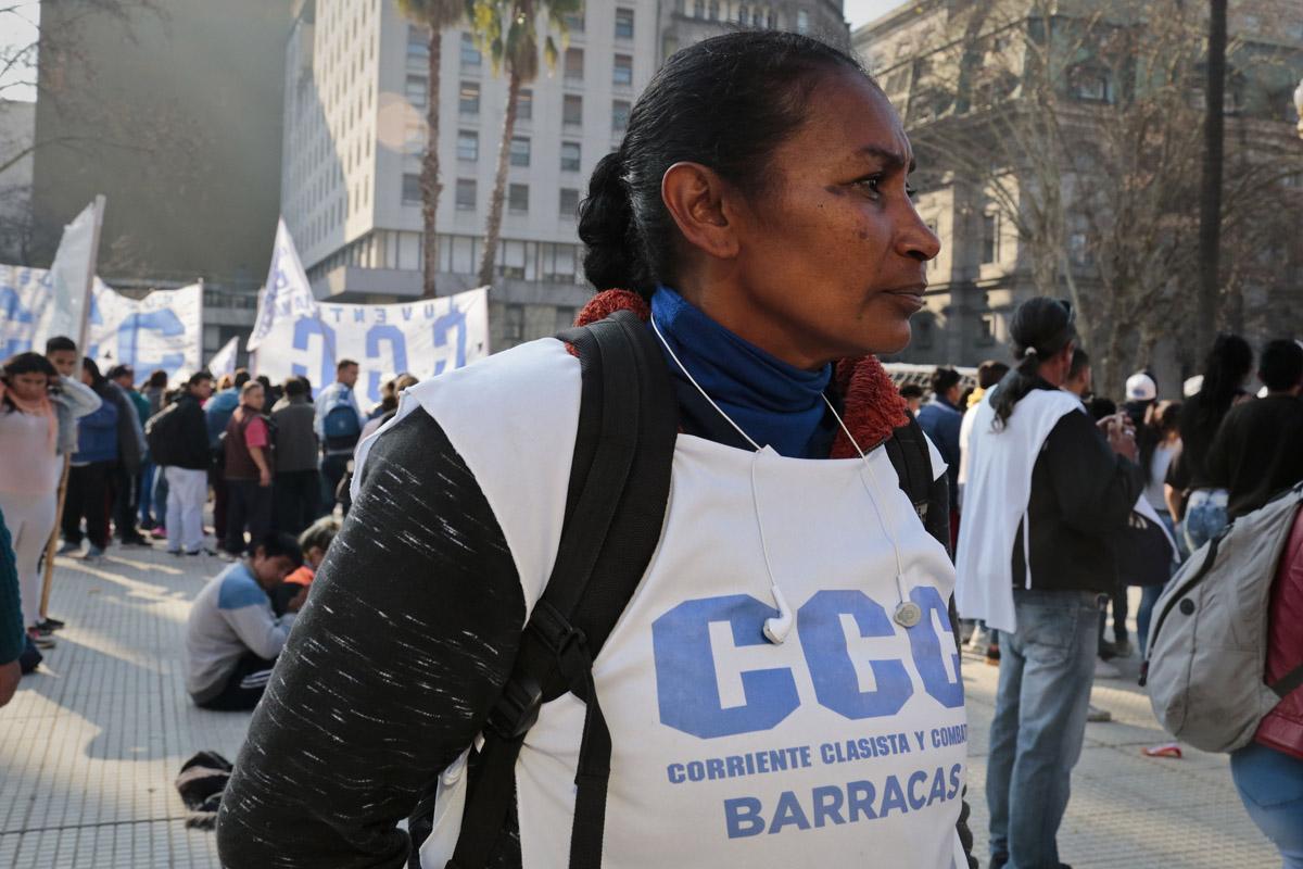 Marcha movimiento Corriente Clasista y Combativa CCC en Plaza de Mayo